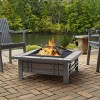 Morrison Square Wood Fire Pit - Real Flame - image 2 of 2
