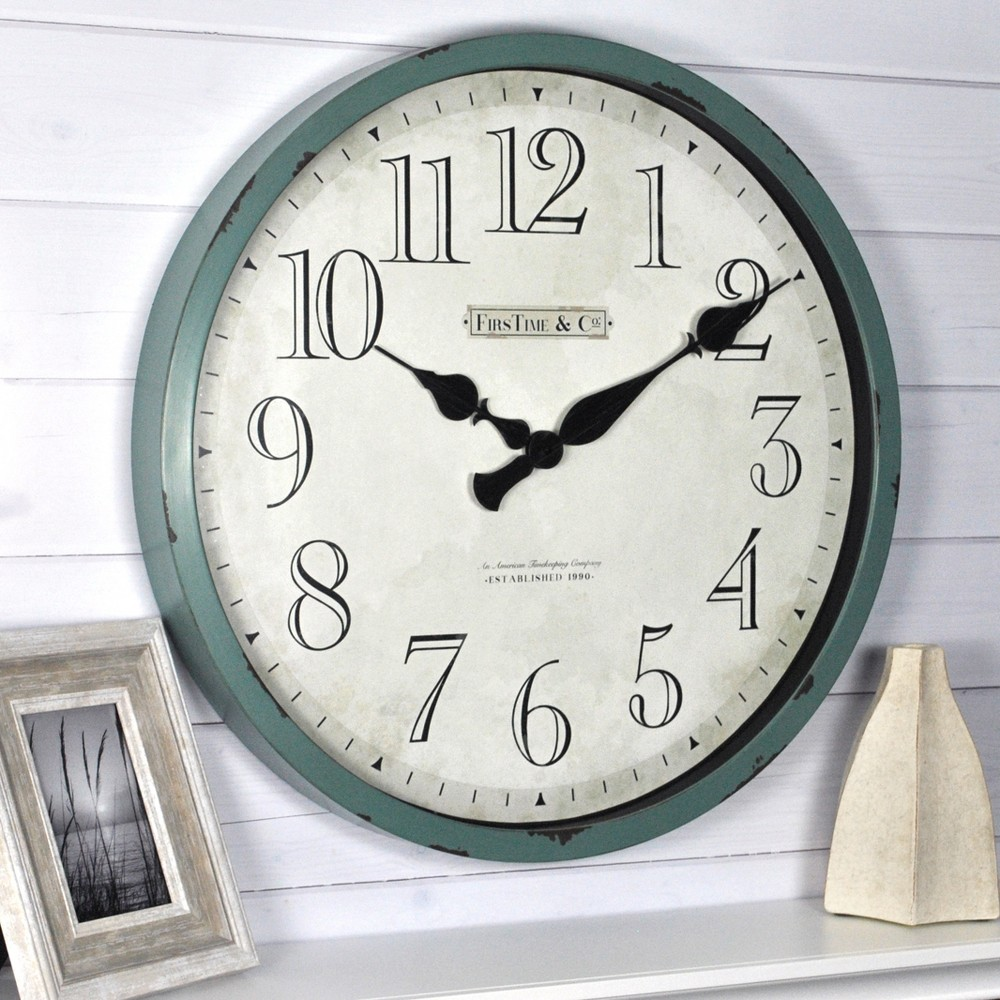 24 Bellamy Wall Clock Turquoise - FirsTime