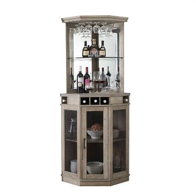 Corner Bar Unit with Mesh Doors - Home Source
