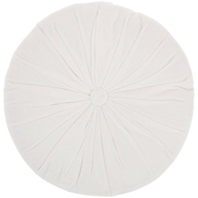 """16"""" Ruched Velvet Round Throw Pillow - Mina Victory"""