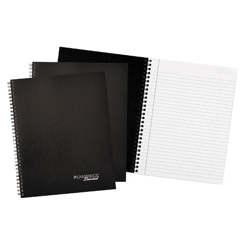 Cambridge Limited Wirebound Business Composition Notebook, 7 1/4 x 9 1/2, Black Cover, 80 Sheets - image 1 of 1