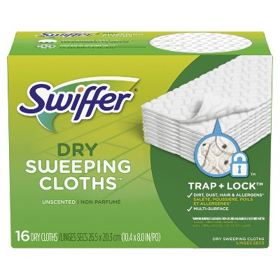 Swiffer Sweeper Dry Sweeping Pad- Multi Surface Refills for Dusters Floor Mop - Unscented - 16ct