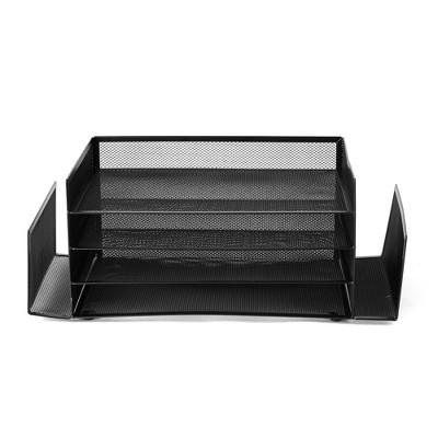 Mind Reader Desktop Organizer Metal Mesh Black