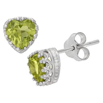 Sterling Silver Heart-Cut Crown Earrings