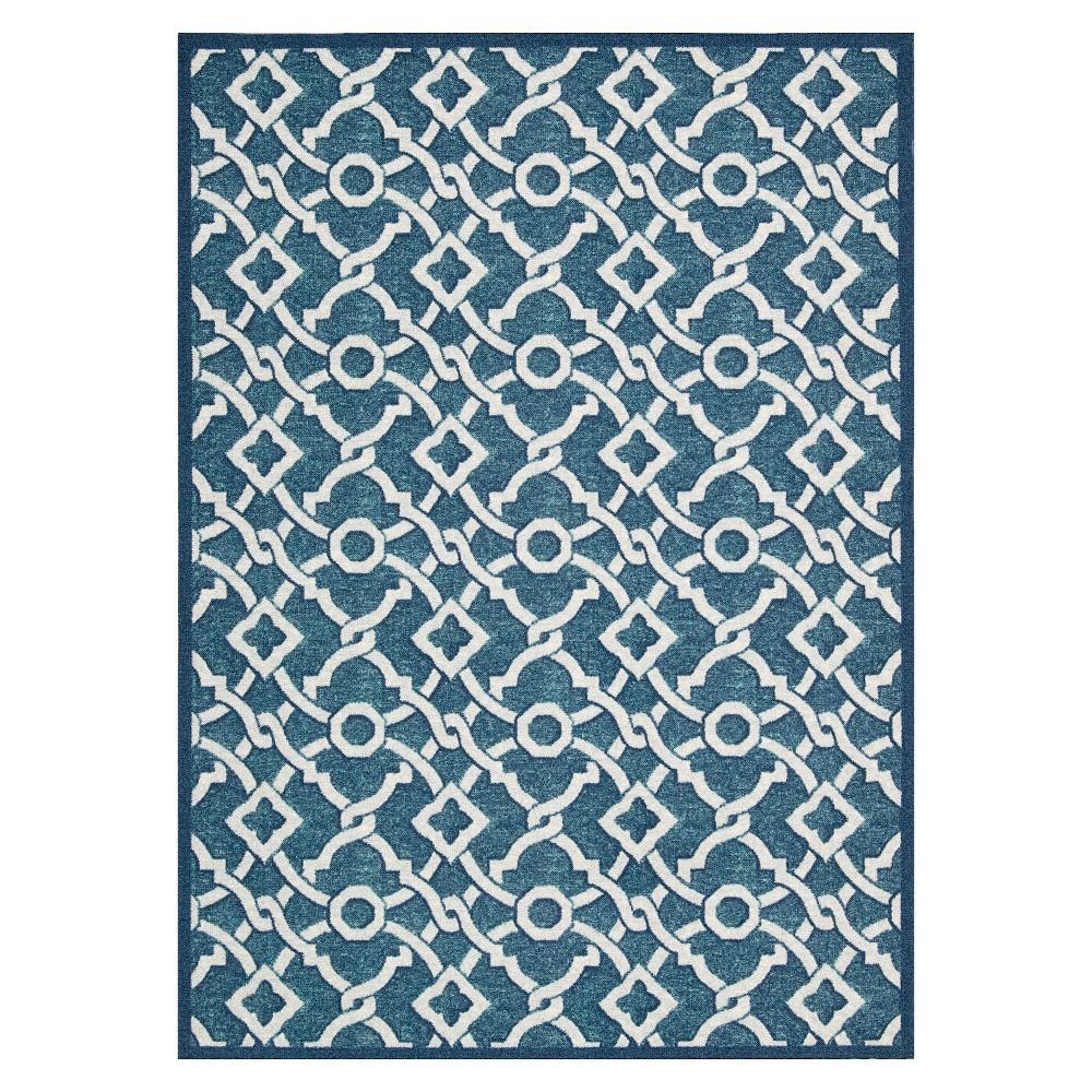 Waverly Tile Fretwork Rug - Blue (5'x7')