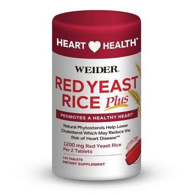 Weider Red Yeast Rice Dietary Supplement Capsules - 120ct