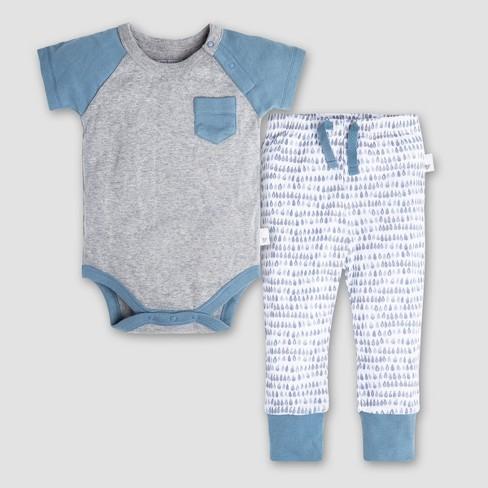 cd2143b8d Burt s Bees Baby Boys  Organic Cotton Raglan Pocket Bodysuit And ...