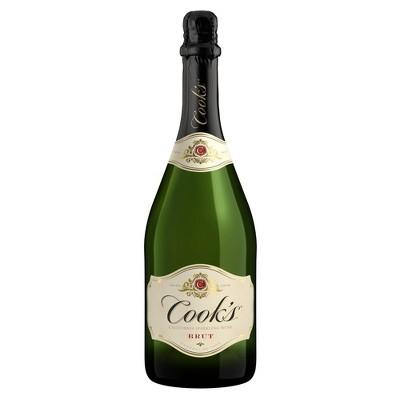 Cook's California Champagne Brut White Sparkling Wine - 750ml Bottle