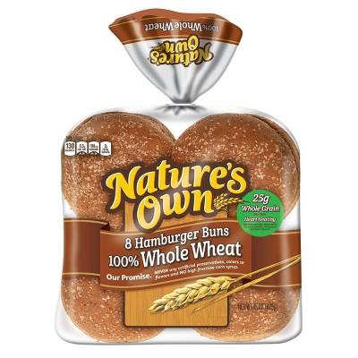 Nature's Own 100% Whole Wheat Sandwich Rolls - 15oz/8ct