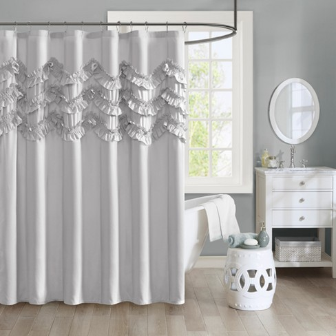 Flora Ruffle Shower Curtain