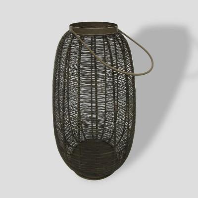 16  Brown Metal Weave Outdoor Lantern - Project 62™