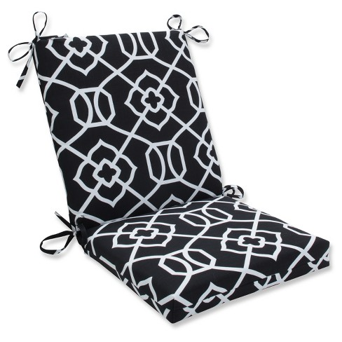 Outdoor Indoor Kirkland Black Squared Corners Chair Cushion Pillow Perfect