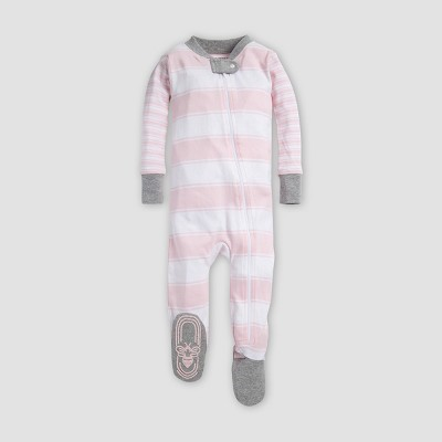 Burt's Bees Baby® Baby Girls' Mixed Peace Organic Cotton Stripe Sleeper - Blossom 3-6M