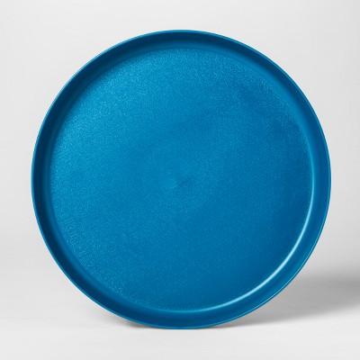 9.6  Plastic Kids Dinner Plate Blue - Pillowfort™