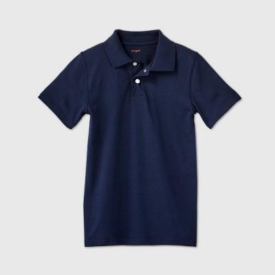 Boys' Adaptive Short Sleeve Polo Shirt - Cat & Jack™ Navy