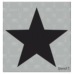 """Stencil1 Tattoo Star - Stencil 5.75"""" x 6"""""""