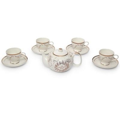 Robe Factory LLC Harry Potter Marauders Map 10-Piece Porcelain Tea Set