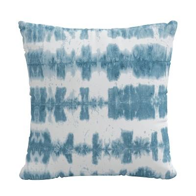 "18"" x 18"" Outdoor Decorative Throw Pillow Obu Stripe Ocean - Skyline Furniture"