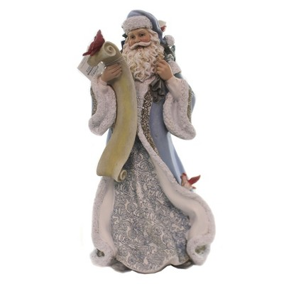 """Christmas 13.75"""" Santa With Feathered Friends Dove Red Birds Bluejay  -  Decorative Figurines"""