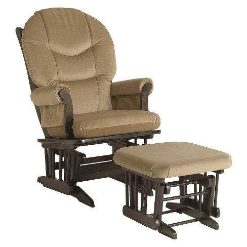 Dutailier Sleigh Glider - Espresso/Light Brown - image 1 of 2