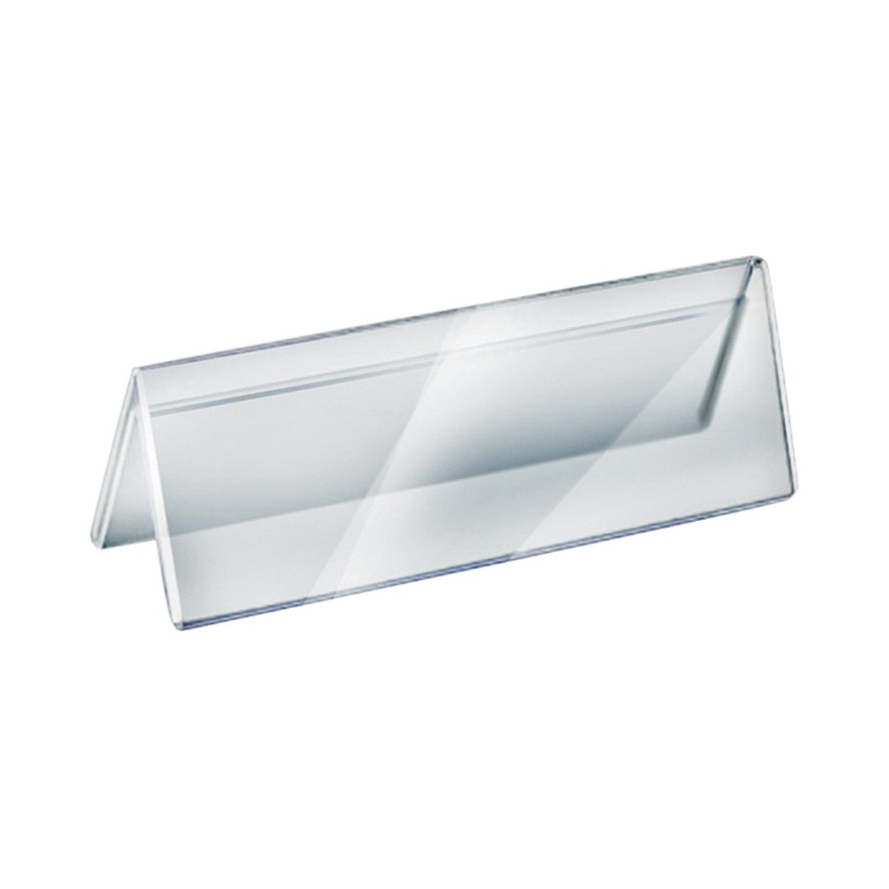 Azar 11 x 3 Two-Sided Acrylic Nameplate 10ct, Clear