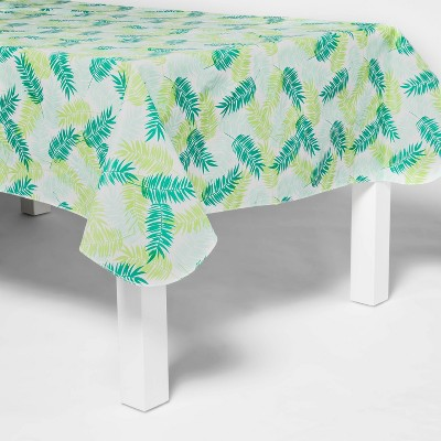"""84"""" x 60"""" Polyester Leaves Print Tablecover - Sun Squad™"""
