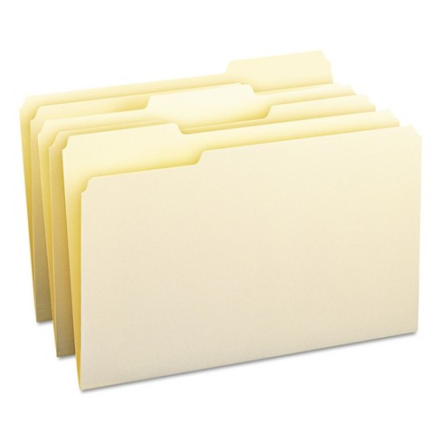 Smead® 1/3 Cut Assorted Position One-Ply Top Tab Legal File Folders- Manila (100 per Box) - image 1 of 8