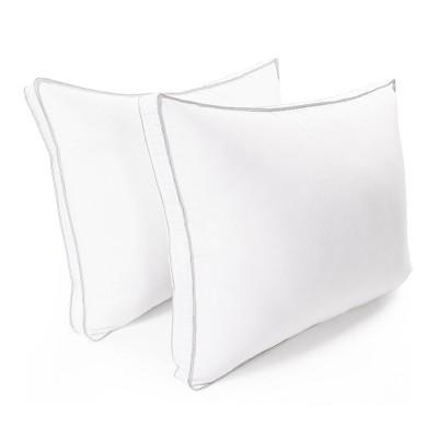 Classic Microfiber Hypoallergenic Gusset 2-Piece Pillow Set - Blue Nile Mills