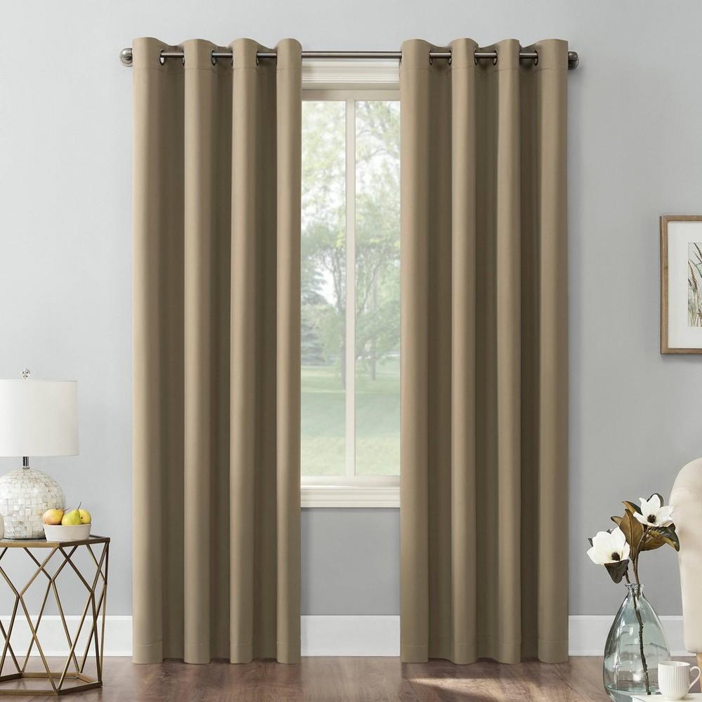108 34 X54 34 Kenneth Energy Saving Blackout Grommet Top Curtain Panel Barley Brown Sun Zero