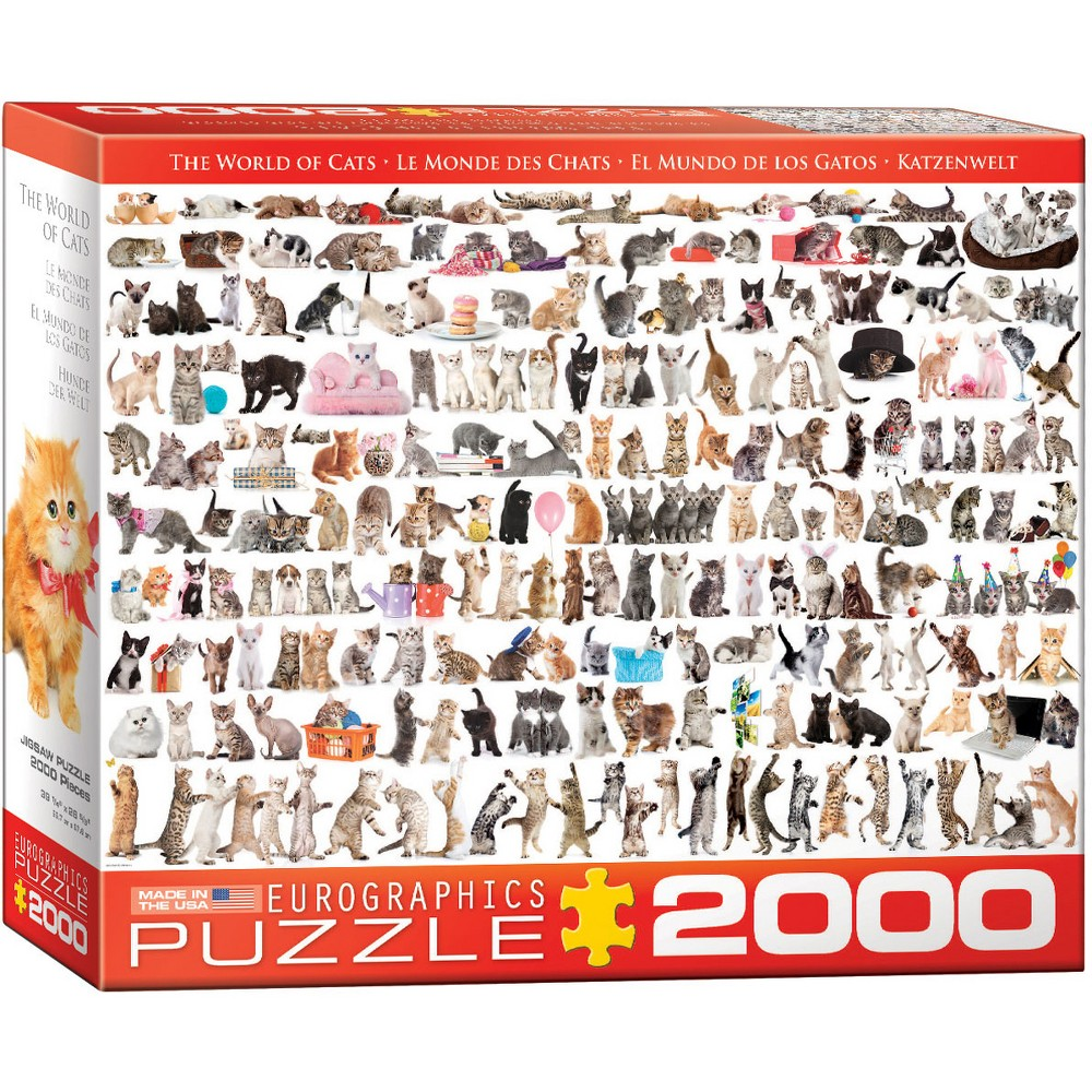 EuroGraphics The World of Cats 2000pc Puzzle