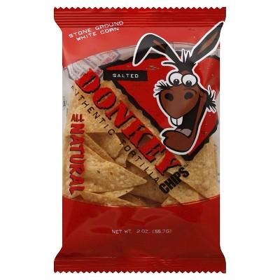 Donkey Chips Salted Snacks 2oz 24 pk