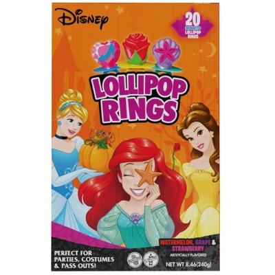 Disney Princess Ring Halloween Lollipops - 8.46oz/20ct