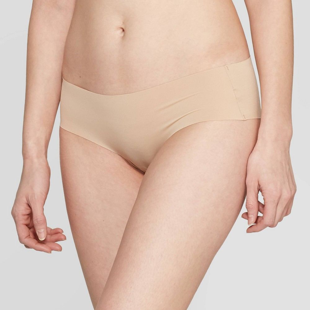Women's Laser Cut Cheeky with Lace - Auden Pearl Tan XL