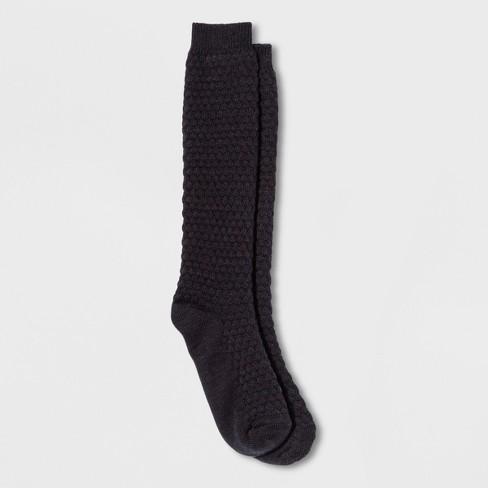 a3b23a618be Women s Knee High Boot Socks - Universal Thread™ Black One Size   Target