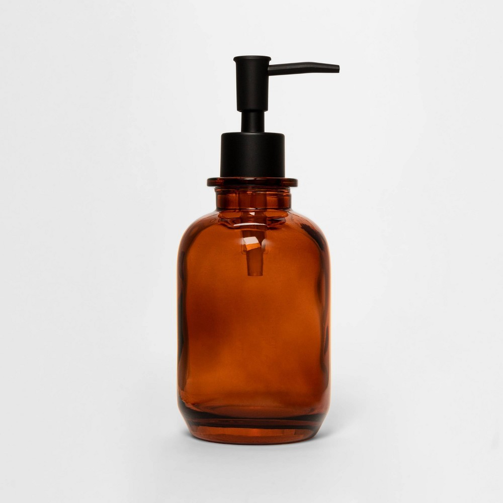 Image of Apothecary Glass Soap/Lotion Dispenser Amber - Threshold