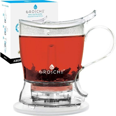 GROSCSHE ABERDEEN Smart Tea Maker and Tea Steeper, 34 fl oz. Bottom Dispensing Tea Pot