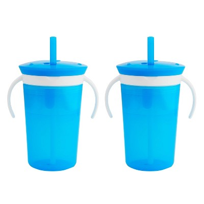 Munchkin SnackCatch & Sip 2-in-1 Snack Catcher and Spill Proof Cup - Blue