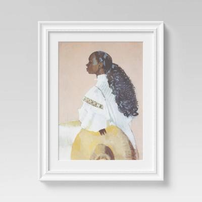 "16"" x 20"" Feminine Portrait White/Brown/Pink - Opalhouse™"