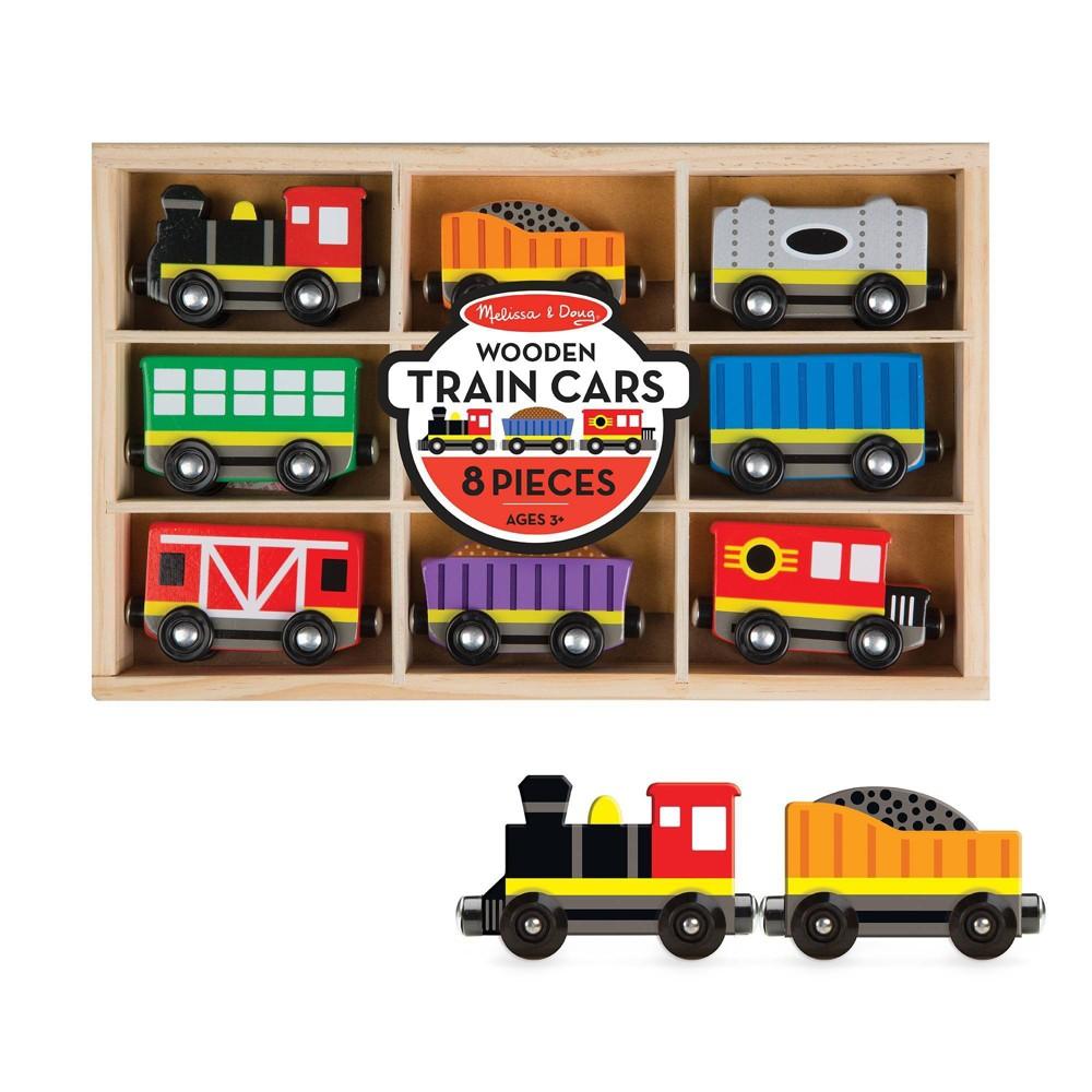 Melissa 38 Doug Wooden Train Cars