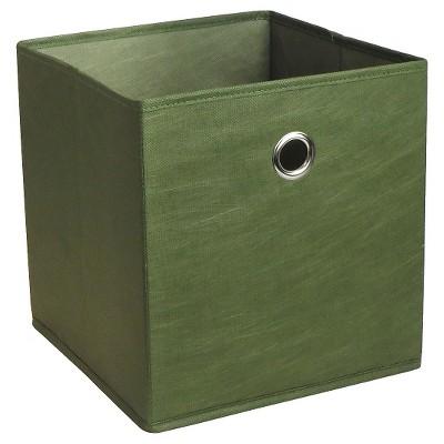 Fabric Cube Storage Bin 11  - Guildhall Green - Room Essentials™