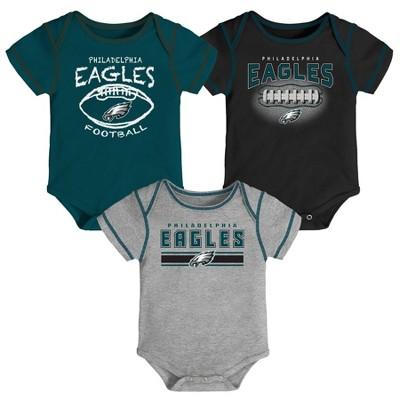 NFL Philadelphia Eagles Baby Boys' Bodysuit Set 3pk - 0-3M