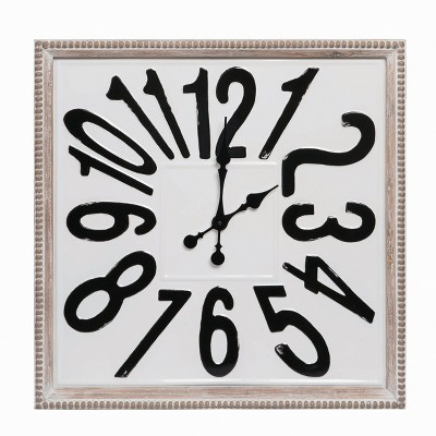 """Transpac Metal 9"""" White Spring Wall Clock Wall Accent"""