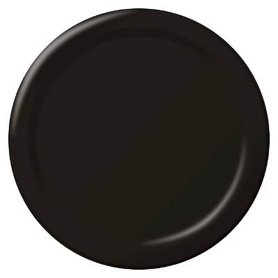 "Black 9"" Paper Plates - 24ct"