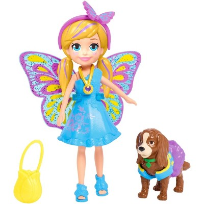 Polly Pocket Polly & Puppy Matching Doll Playset