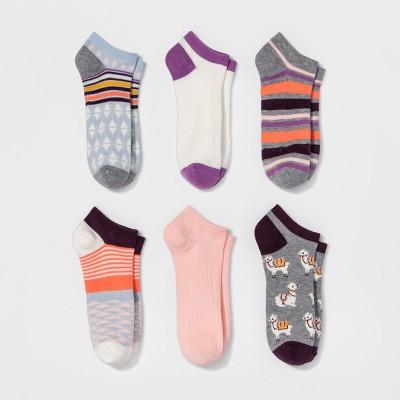 Women's Low-Cut Socks 6pk - Xhilaration™ Llamas One Size