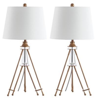 Set of 2 Graham Table Lamp (Includes LED Light Bulb)Brass - Safavieh
