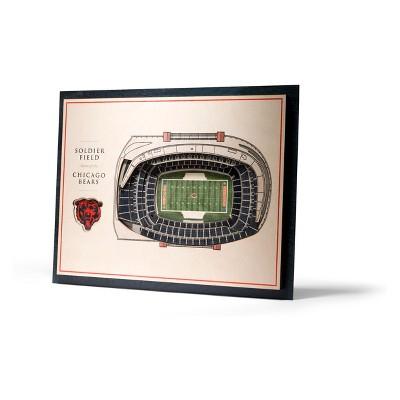 NFL Chicago Bears 5-Layer Stadiumviews 3D Wall Art
