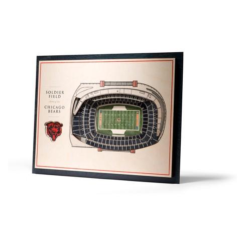 NFL Chicago Bears 5-Layer Stadiumviews 3D Wall Art - image 1 of 5