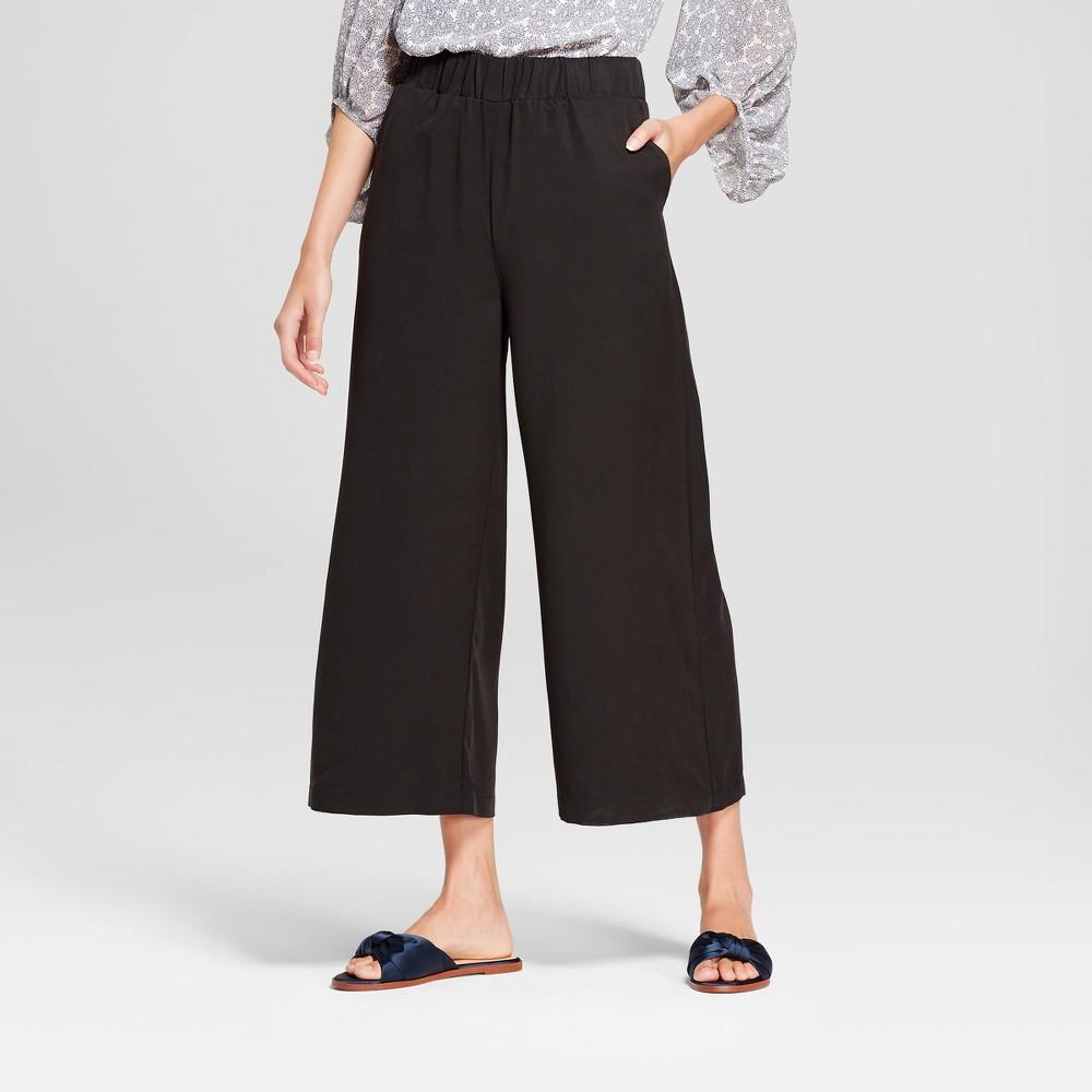 Women's Wide Leg Crop Pants - K by Kersh Black M