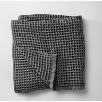 Waffle Bath Towel Dark Gray - Casaluna™